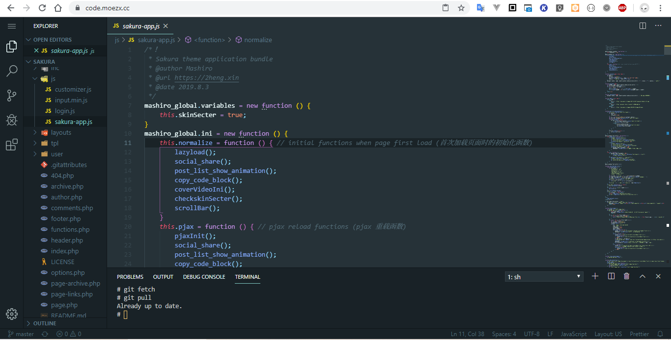 Visual Studio Code on Chrome